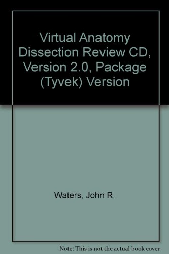 Virtual Anatomy Dissection Review CD, Version 2.0, Package (Tyvek) Version - John Waters