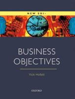 Business Objectives. Student's Book