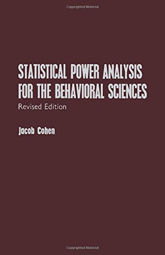 Statistical Power Analysis for the Behavioral Sciences - Jacob Willem Cohen
