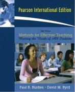 Methods for Effective Teaching: Meeting the Needs of All Students - Burden, Paul R.