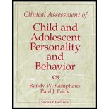 Clinical Assessment of Child and Adolescent Personality and Behavior (2nd Edition) - Randy W. Kamphaus; Paul J. Frick