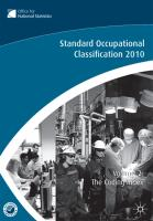 Standard Occupational Classification, Volume 2: The Coding Index