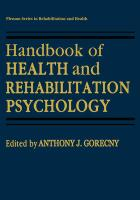 Handbook of Health and Rehabilitation Psychology