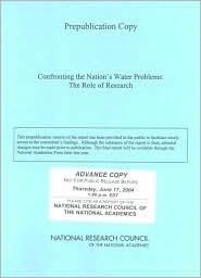 Confronting the Nation's Water Problems: The Role of Research