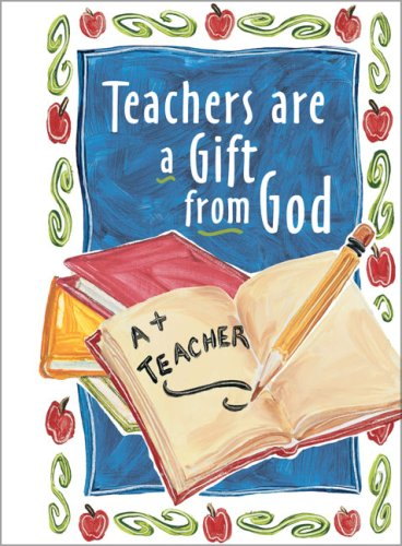 Teachers Are a Gift from God Greeting Book - Zondervan