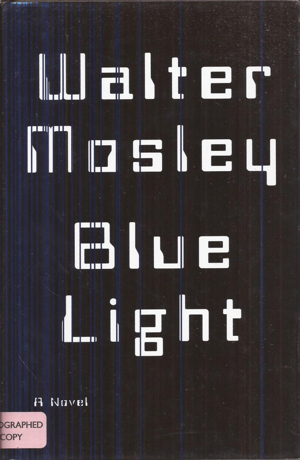 Blue Light (signed) - Mosley, Walter