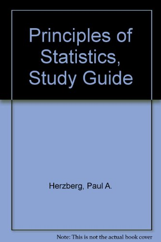 Principles of Statistics, Study Guide - Paul A. Herzberg