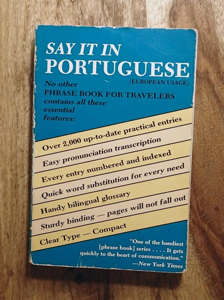 SAY IT IN PORTUGUESE : European Usage (Dover Language Guides Say It Series) - Da Prista, Alexander