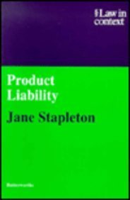 Product Liability (Law in Context) - Jane Stapleton