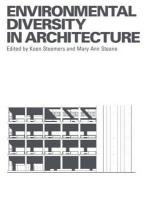 Environmental Diversity in Architecture - Steemers, Koen