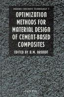 Optimization Methods for Material Design of Cement-Based Composits - Brandt, A. M.
