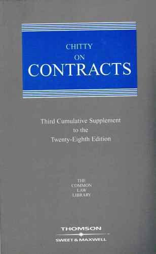 Chitty on Contracts,: 3rd Supplement Common Law Library - Joseph Chitty, Professor Hugh Beale