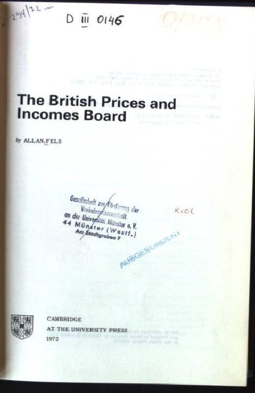 The British Prices and Incomes Board