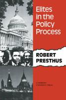 Elites in the Policy Process