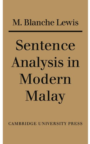 Sentence Analysis in Modern Malay - M. Blanche Lewis