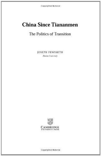 China since Tiananmen: The Politics of Transition (Cambridge Modern China Series) - Joseph Fewsmith