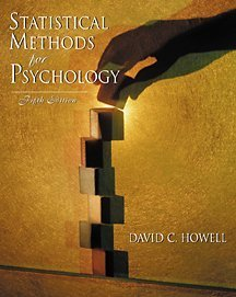 Statistical Methods for Psychology. With Infotrac