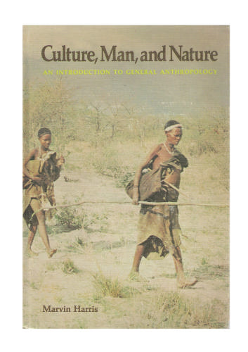 Culture, Man, and Nature