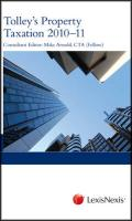 Tolley's Property Taxation 2010-11. Consultant Editor, Mike Arnold - Ma, Mohammed Amin (Fca; Arnold, Mike