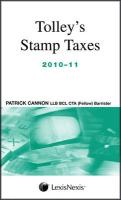 Tolley's Stamp Taxes 2010-11. by Patrick Cannon - Cannon, Patrick