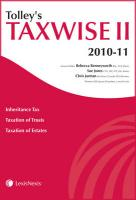 Tolley's Taxwise II 2010-11 - Jarman, Chris