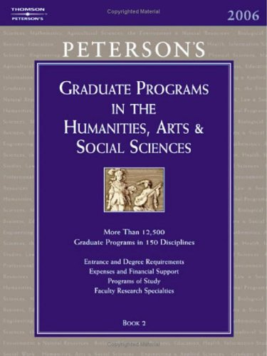 Grad Guides Book 2:  Humanities/Arts/Soc Scis 2006 (Peterson's Graduate and Professional Programs in the Humanities, Arts and Social Science - Peterson's