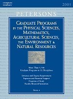 Grad Guides BK4: Physical Scis  &  Math/Ag Scis 2006 (Peterson's Graduate and Professional Programs in the Physical Sciences, Mathematics,) - Peterson's