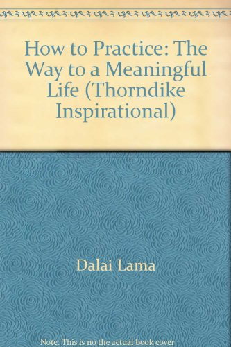 How to Practice: The Way to a Meaningful Life (Thorndike Inspirational) - Jeffrey Hopkins, Bstan-'Dzin-Rgy Dalai Lama