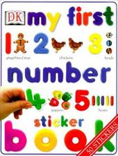 My First Number Sticker Book [With 50]