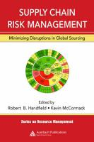 Supply Chain Risk Management: Minimizing Disruptions in Global Sourcing