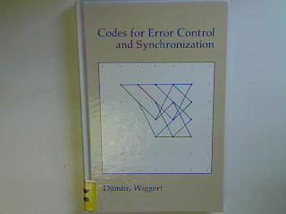 Codes for Error Control and Synchronization (Artech House Communication & Electronic Defense Library) - Wiggert, Djimitri