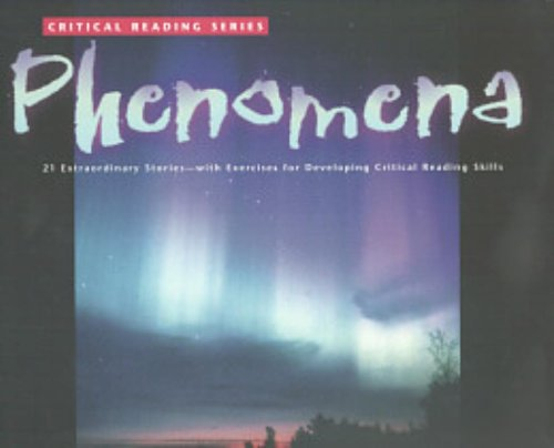 Critical Reading Series: Phenomena - Glencoe/ McGraw-Hill - Jamestown Education