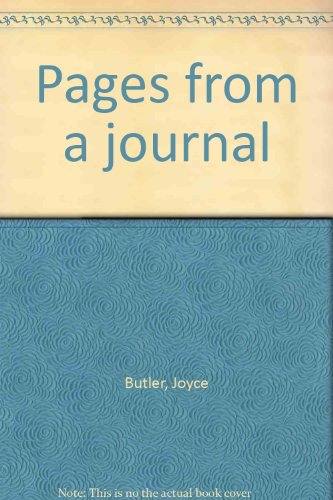 Pages From A Journal - Joyce Butler