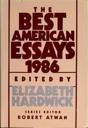 The Best American Essays 1986