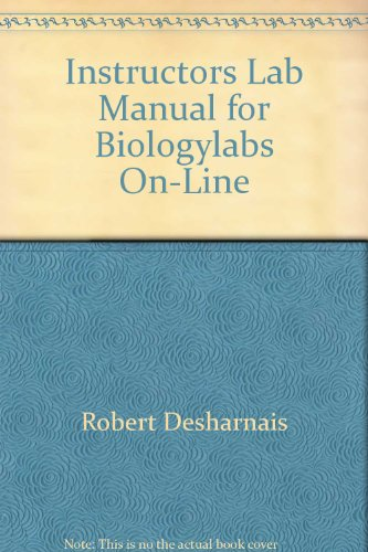 Instructor's Lab Manual for Biology Labs On-Line, pb, 2001 - Palladino