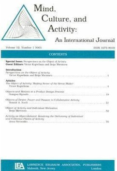 Perspectives on the Object of Activity (Mind, Culture and Activity)
