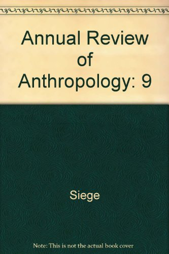 Annual Review of Anthropology - Siege