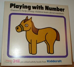 Playing with Number. Games to help young children learn about numbers. 3/4/5 pre-school activity book from Kiddicraft