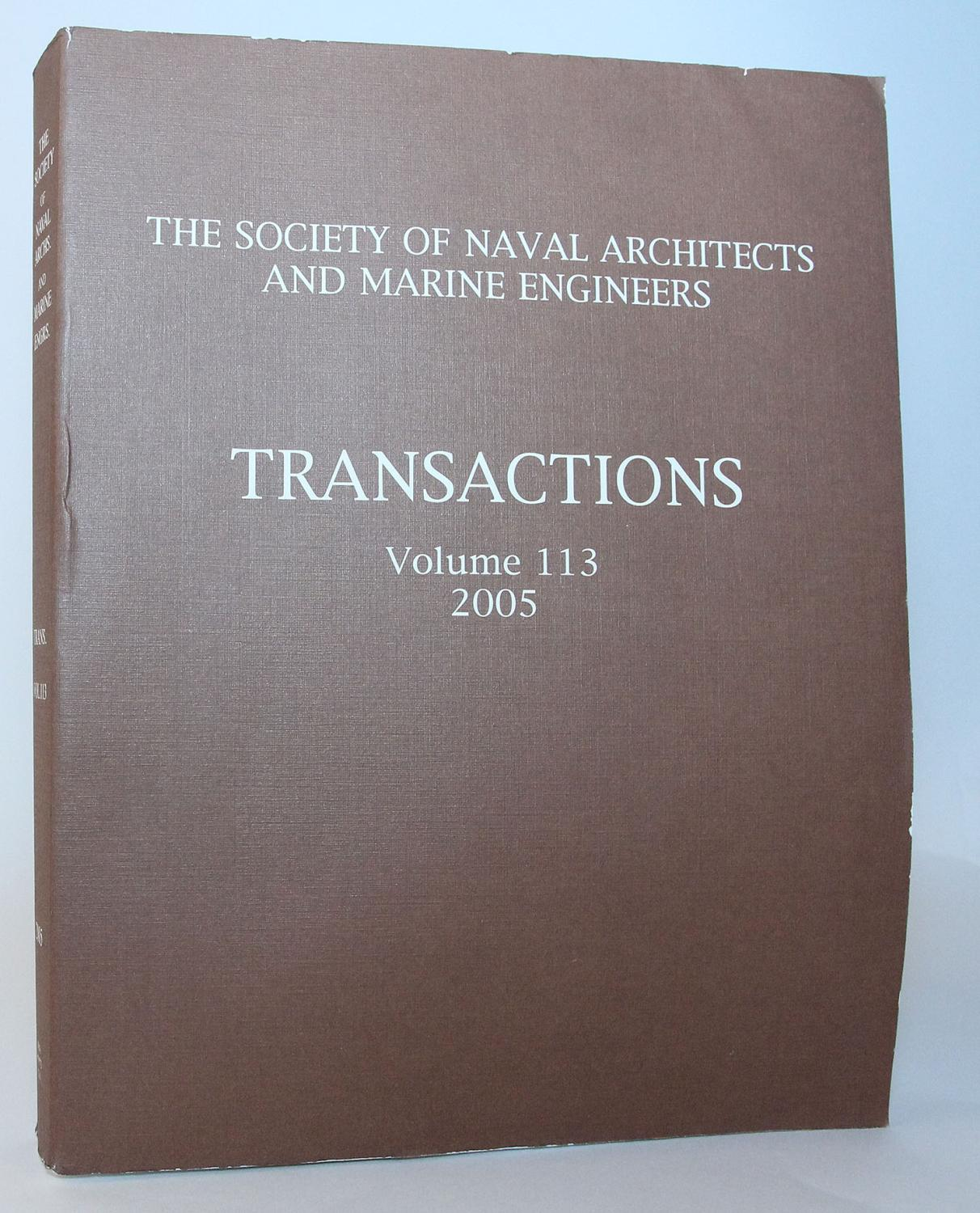 Transactions 2005 (Society of Naval Architects and Marine Engineers (U S)//Transactions)