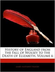 History of England from the Fall of Wolsey to the Death of Elizabeth, Volume 6