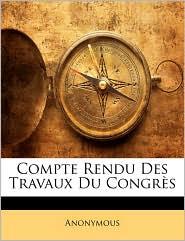 Compte Rendu Des Travaux Du Congrs