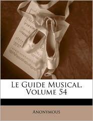 Guide Musical, Volume 54