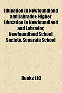 Education in Newfoundland and Labrador: Higher Education in Newfoundland and Labrador