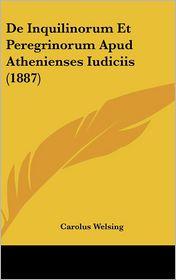 de Inquilinorum Et Peregrinorum Apud Athenienses Iudiciis (1887)