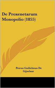 de Proxenetarum Monopolio (1855)