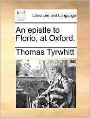 An Epistle to Florio, at Oxford.
