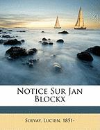 Notice Sur Jan Blockx
