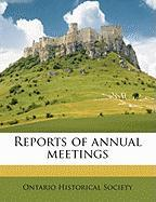 Reports of Annual Meetings