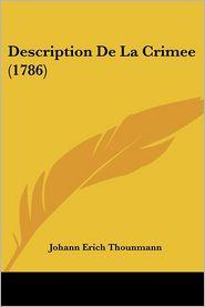 Description de La Crimee (1786)