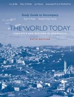 The World Today: Concepts and Regions in Geography